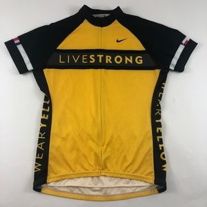 Nike Livestrong Cycling Jersey Wear Yellow Womens